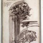 Carlo Marchionni - Progetto per l'altare nella cappella dell'Angelo Custode nel Duomo di Spoleto