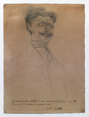 Giovanni Costetti - Caricatura di Gianluca Papini