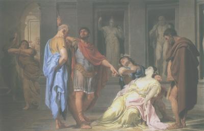 Domenico Corvi - Il giuramento di Bruto davanti al corpo di Lucrezia