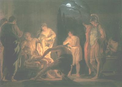 Domenico Corvi - La morte di Seneca