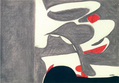 Enrico Castelli - Composizione, tecnica mista su carta