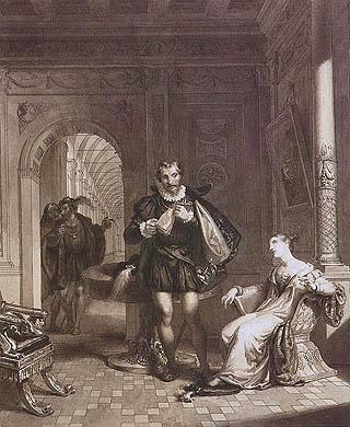 Giacomo Trécourt - Torquato Tasso ed Eleonora d'Este