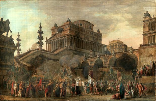 Giovan Battista Dell'Era - Corteo trionfale nell'antica Roma