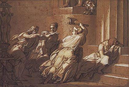 Giovanni De Min - Merope cerca di uccidere Epito ma riconosce il figlio in tempo