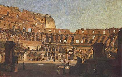 Jean Charles Geslin - Interno del Colosseo nella luce pomeridiana