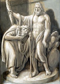 Luigi Ademollo - Tiresio premiato da Giove