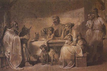 Nicola Consoni - Omero cieco in casa del pastore Glauco