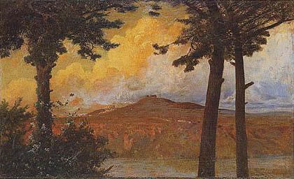Othmar Bioschi - II Monte Cavo e il Lago d'Albano