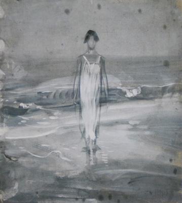 Paolo Michetti - Donna sulla battigia