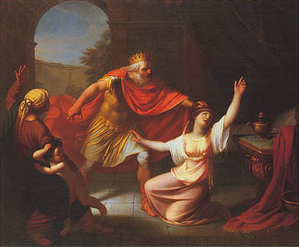 Stefano Tofanelli - Acrisio scopre l'esistenza di Perseo e ripudia Danae