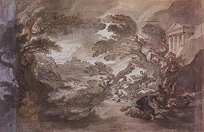 Tommaso Minardi - Effetto di un temporale con caduta di un fulmine