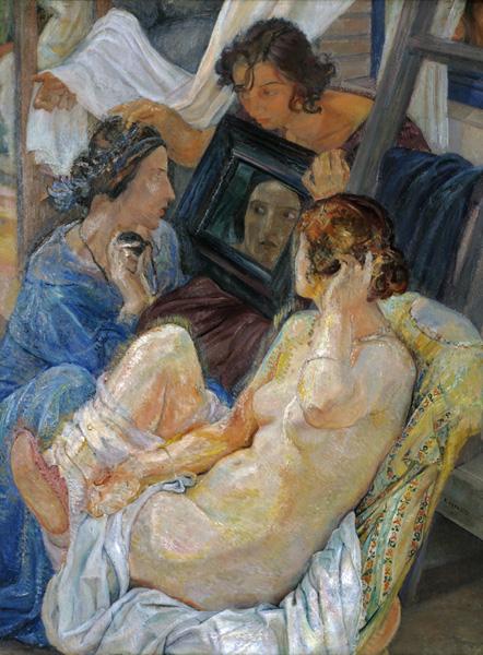 Ferruccio Ferrazzi, La nuda (frammento della terza versione della Vita gaia), 1922