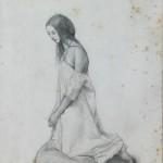 Vincenzo Vela: studio per la preghiera del mattino