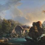Carlo Bonavia (Napoli o Roma, documentato tra 1751 e 1788), Paesaggio fantastico con il tempio di Diana a Baia, 1760 circa