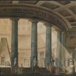 Giuseppe Borsato (Venezia 1771 –1849), Interno di un Pantheon dedicato agli illustri artisti veneziani, 1802