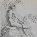 Pelagio Palagi (Bologna 1775 – Torino 1860), Studio di nudo virile, 1806 – 1808 circa