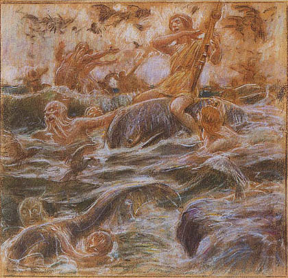 Adolf Hirémy-Hirschl - Fantasia marina