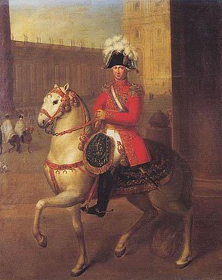 Bernardino Nocchi - Ritratto equestre di Luigi Braschi Onesti
