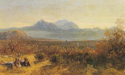 Giovanni (Nino) COSTA - Paesaggio con due figure femminili