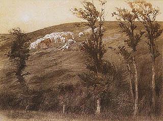 Giulio Aristide Sartorio - Butteri e bufali nell'agro romano