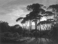Hendrik Voogd - Veduta di Valle Giulia