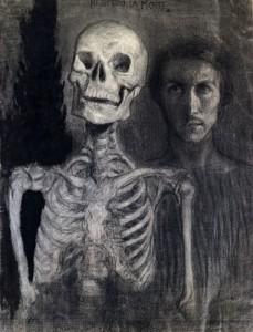 Giovanni Costetti - Io seguo la morte (autoritratto)