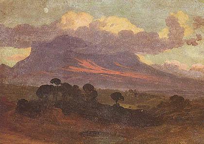 Johann Jakob Frey - Paesaggio al tramonto