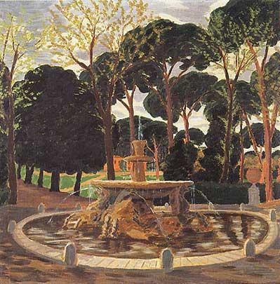 Lelia Caetani Howard - La fontana dei cavalli marini a villa Borghese
