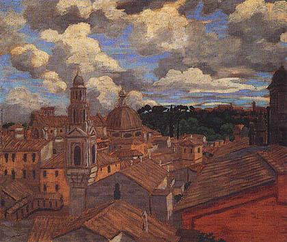 Lelia Caetani Howard - Tetti di Roma