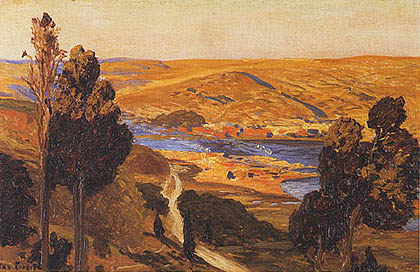 Max Roeder - Paesaggio mediterraneo
