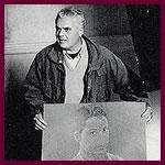 Marco Tullio Giordana con il ritratto di Peppino Impastato