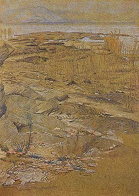 Otto Greiner - Paesaggio lacustre