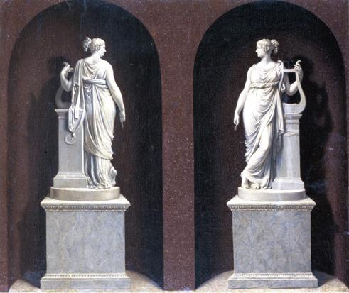 Bernardino Nocchi: Alexandrine de Bleschamps come Tersicore, dalla statua di Canova
