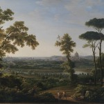Fëdor Michajlovič Matveev: Veduta di Roma verso Ponte Milvio