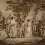 Giovanni Battista dell'Era (Treviglio 1765 – Firenze 1799), Ritratto di gruppo in un giardino, 1787-1788