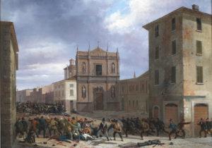 Joli: La barricata a San Barnaba, 31 marzo 1849