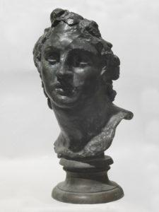 Gemito: testa di Alessandro Magno, scultura in bronzo