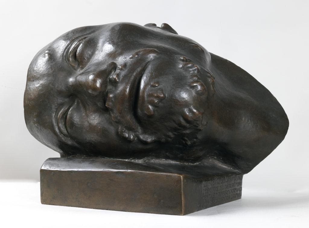 Rambelli: testa del fante morente per il monumento ai caduti di viareggio